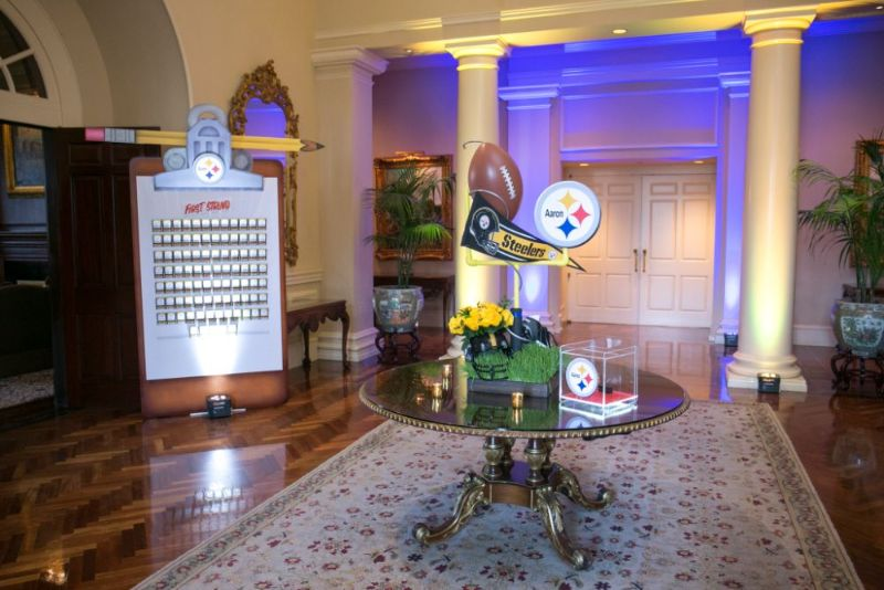 Bar Mitzvah, football theme, decorations