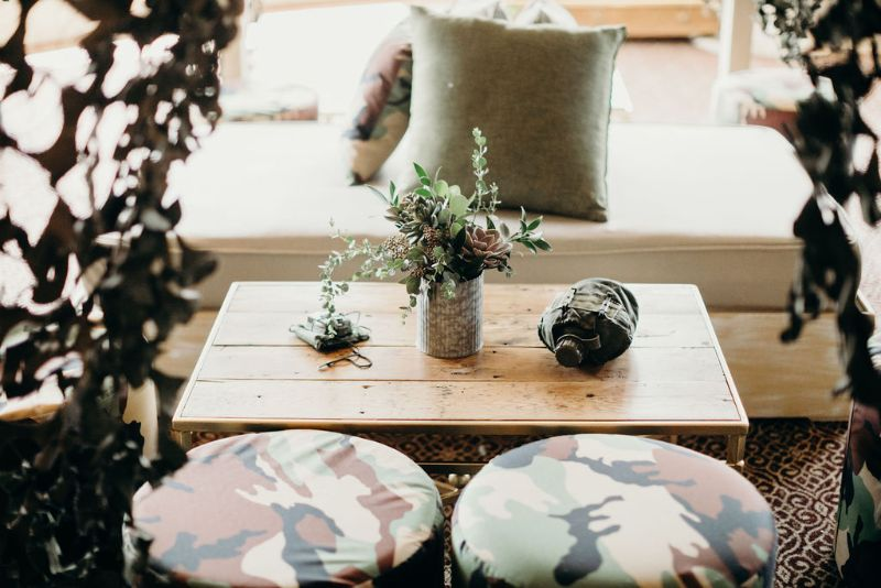 Call of Duty-themed Bar Mitzvah, camo seating and accessories