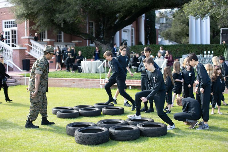 Call of Duty-themed Bar Mitzvah, drill sergeant putting kids through obstacle course