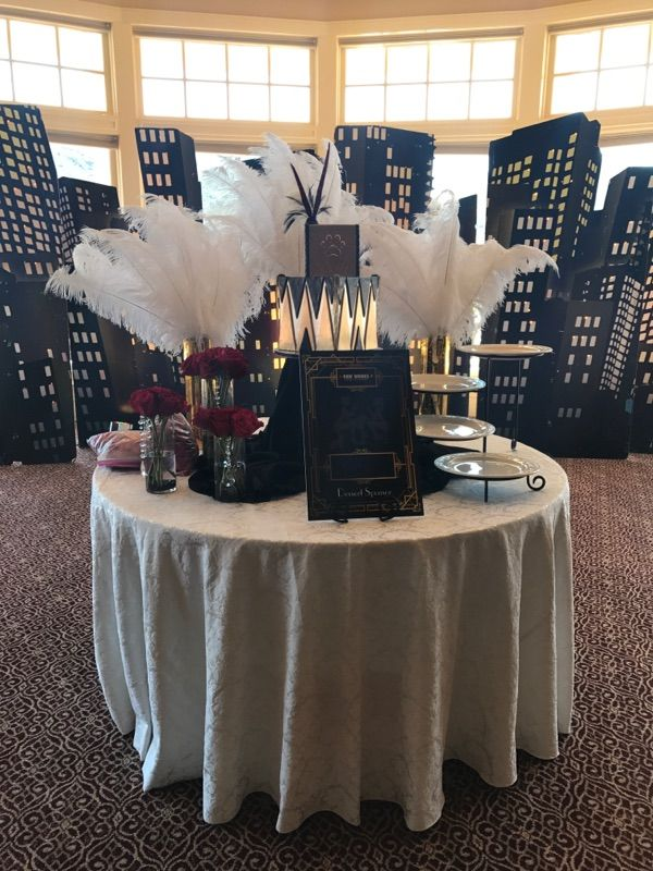 Table decorated for special event