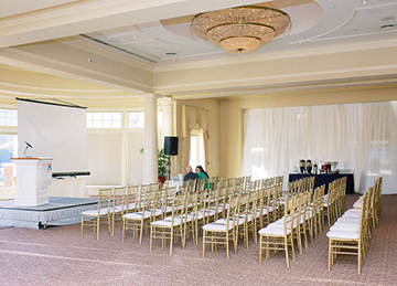 corporate event room with chairs